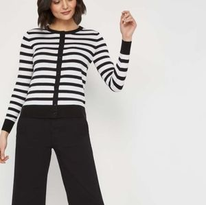 Joe Fresh Black/White Striped Cardigan